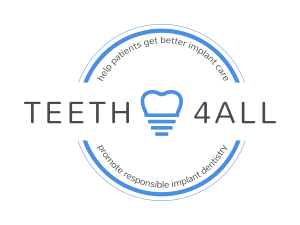 Patient-centered dental implant Teeth4all logo