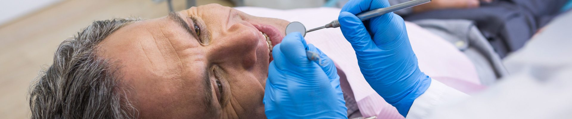 getting treated with implant